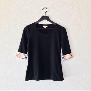 ▪️Burberry▪️3/4 quarter length plaid shirt